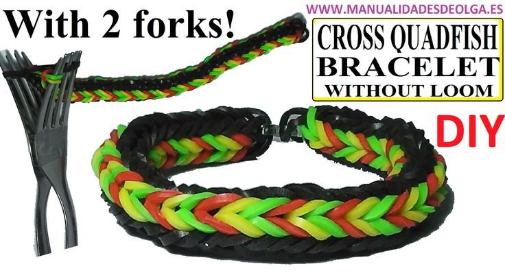 how to make loom bands with fork step by step