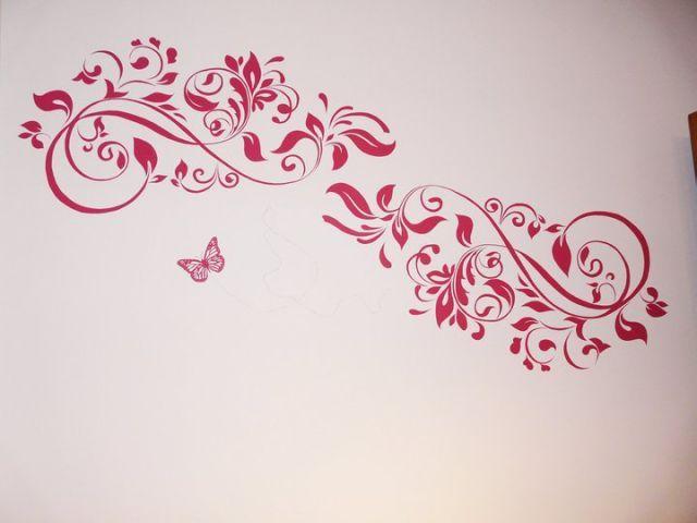 M s de 1000 ideas sobre pinturas de pared decorativas en - Cabeceros pintados a mano ...