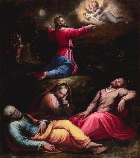 VASARI, Giorgio  : The Garden of Gethsemane   (c.1570 (?))   oil on panel   143.5 x 127  The National Museum of Western Art, Tokyo