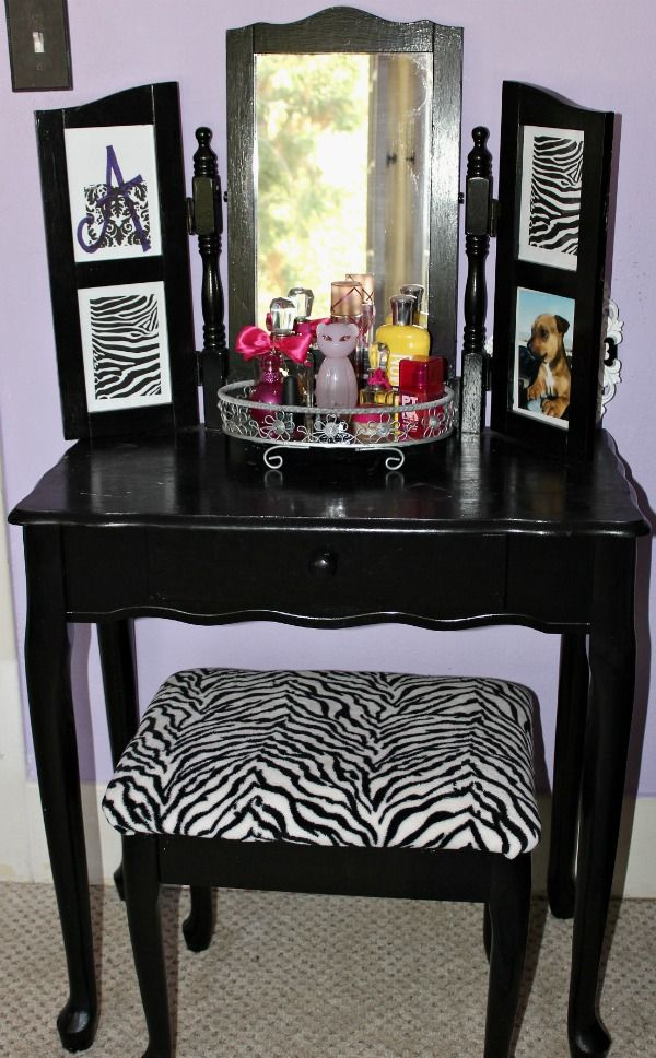 Hometalk :: Vanity Table Makeover  this was for a teen's room but i would love it too!