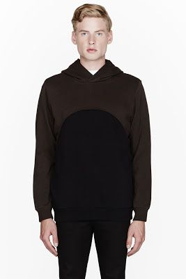 Givenchy Brown And Black Cropped Layered Hoodie