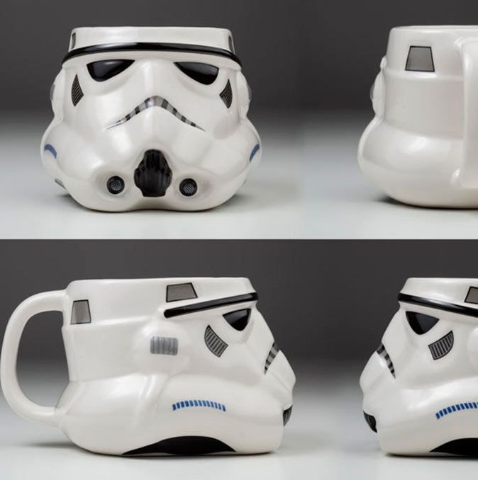 Taza Cerámica 3D Stormtrooper. Star Wars. Joy Toy. 0,30 litros  Taza en 3D para tus desayunos matinales con la imagen del soldado imperial Stormtrooper,