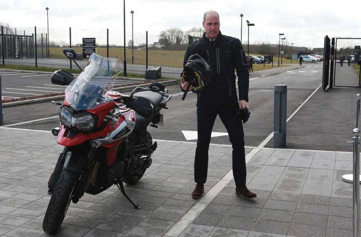 El príncipe William en moto es todo lo que necesitas ver para empezar el día