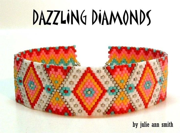 DAZZLING DIAMONDS Bracelet Pattern | Bead-Patterns