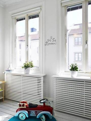 These simplistic radiator covers are refreshingly streamlined for the contemporary space.