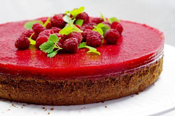 Malinovo-tvarohový cheesecake