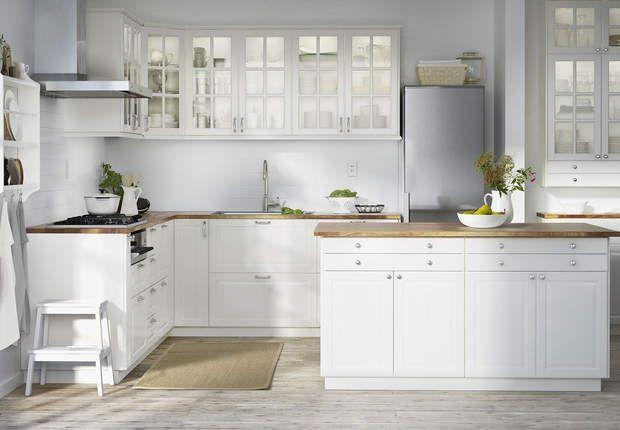 Stenstorp Îlot Pour Cuisine Blanc Chêne : Cuisine Ikea  le modèle familialMETODBODBYN à partir de 539€prix