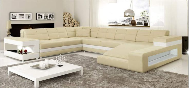 Cream L Shaped Sofa Design | Furniture | Pinterest | Living room sofa design,  Living room sofa and Future house