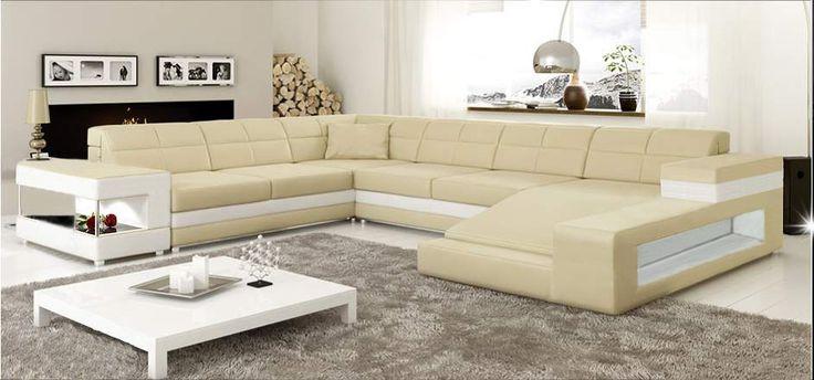 Cream L Shaped Sofa Design