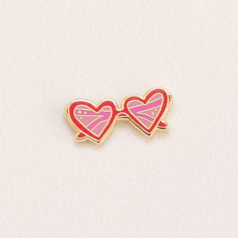 Heart Sunnies Lapel Pin