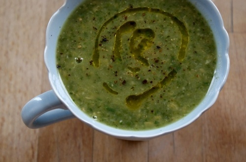 Courgette, Chickpea and Spinach Soup   food and drink   Pinterest