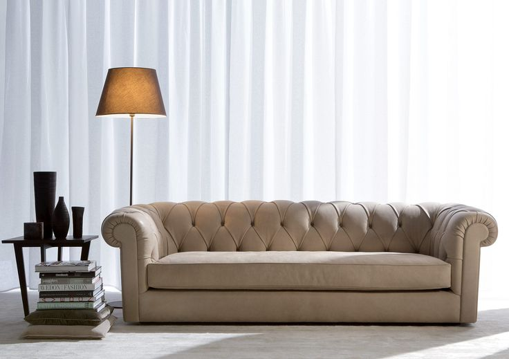 Canapé chesterfield / en cuir / en tissu / 3 places BOSTON BERTO SALOTTI
