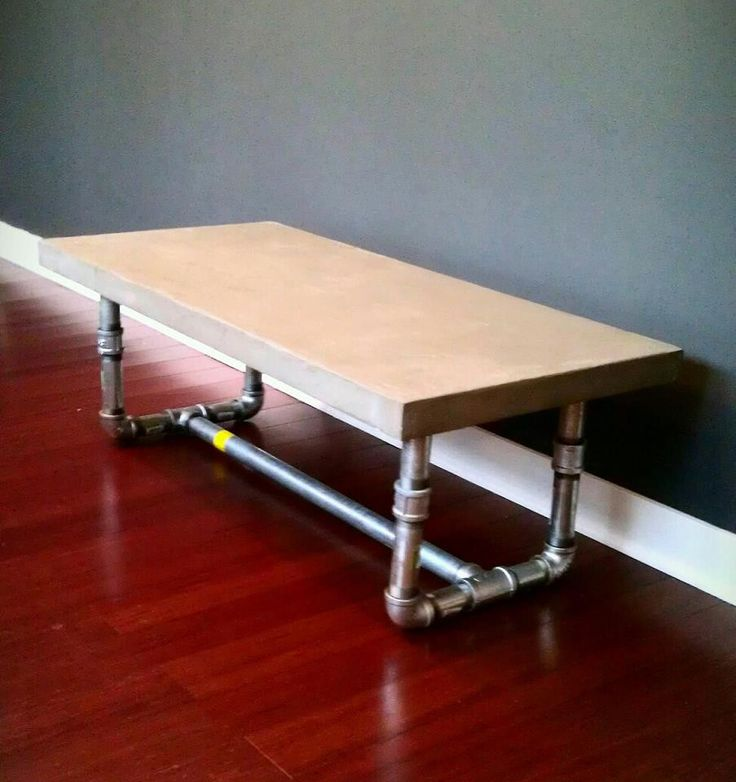 Concrete Coffee Table-Steel Leg