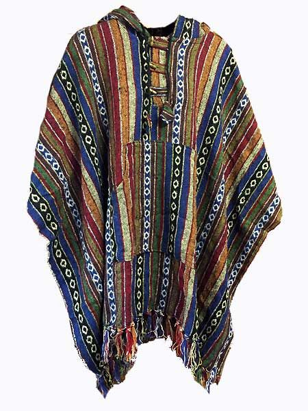 Woven baja poncho made in Nepal. Shop online at Himalayan Handmades  International now for wholesale prices and cut costs. We ship worldwide. 6bb978f34