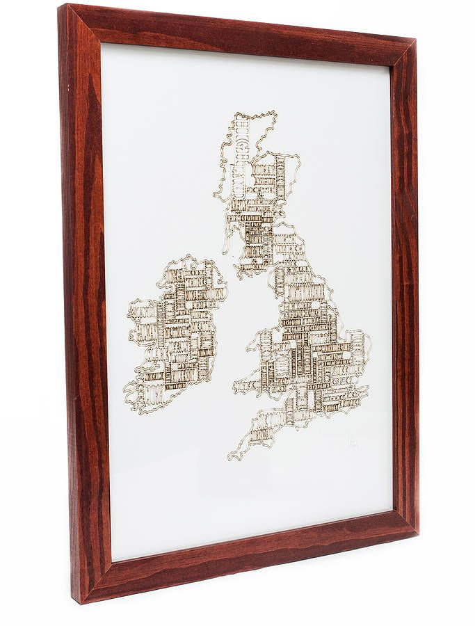 etched vintage look map of the united kingdom by ( q u i e t l y c r e a t i v e ) | notonthehighstreet.com
