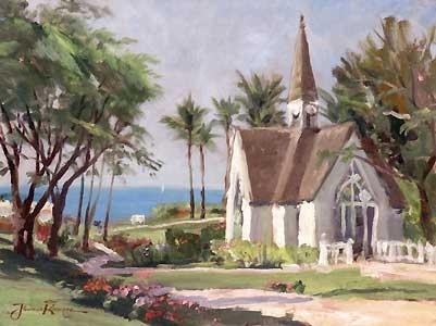 Wailea Chapel - Thomas Kinkade - World-Wide-Art.com - $520.00 #Kinkade