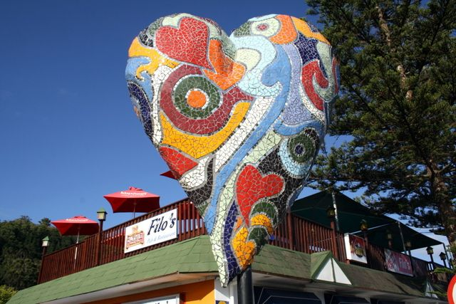 Mosaic heart. Sedgefield, South-Africa