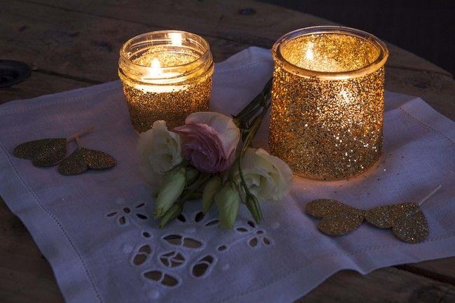 DIY photophore paillette   allumes nuit