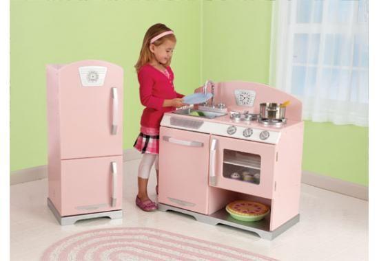 Kidkraft Retro Kitchen & Refrigerator - Pink