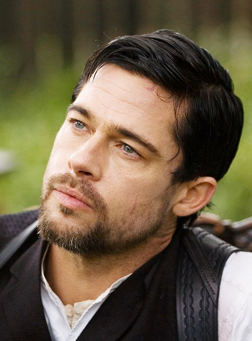 Brad Pitt - The Assassination Of Jesse James - if only he had used contacts that actually were closer to the penetrating blue eyes Jesse was supposed to have had.