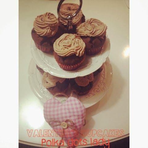 Valentine's cupcakes |polka dots lady
