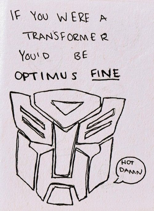 Homemade Transformers Valentine's Day card