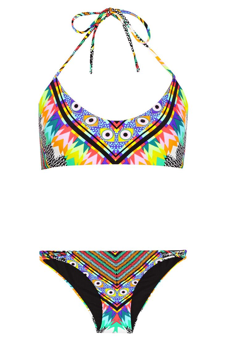 Mara Hoffman Basketweave-detailed printed bikini NET-A-PORTER.COM [@its_helenxx]