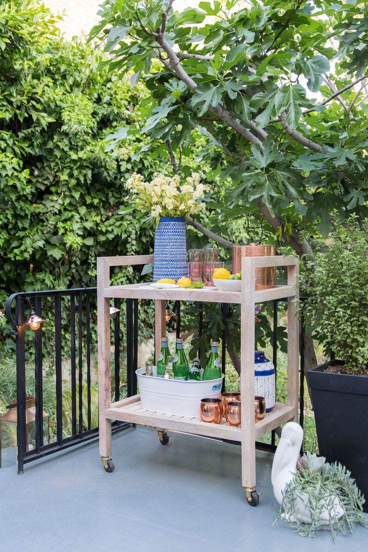 Outdoor barcarts are great for both happy hour drinks and housing gardening  tools. 244 best images about Outdoor Spaces on Pinterest   Gardens