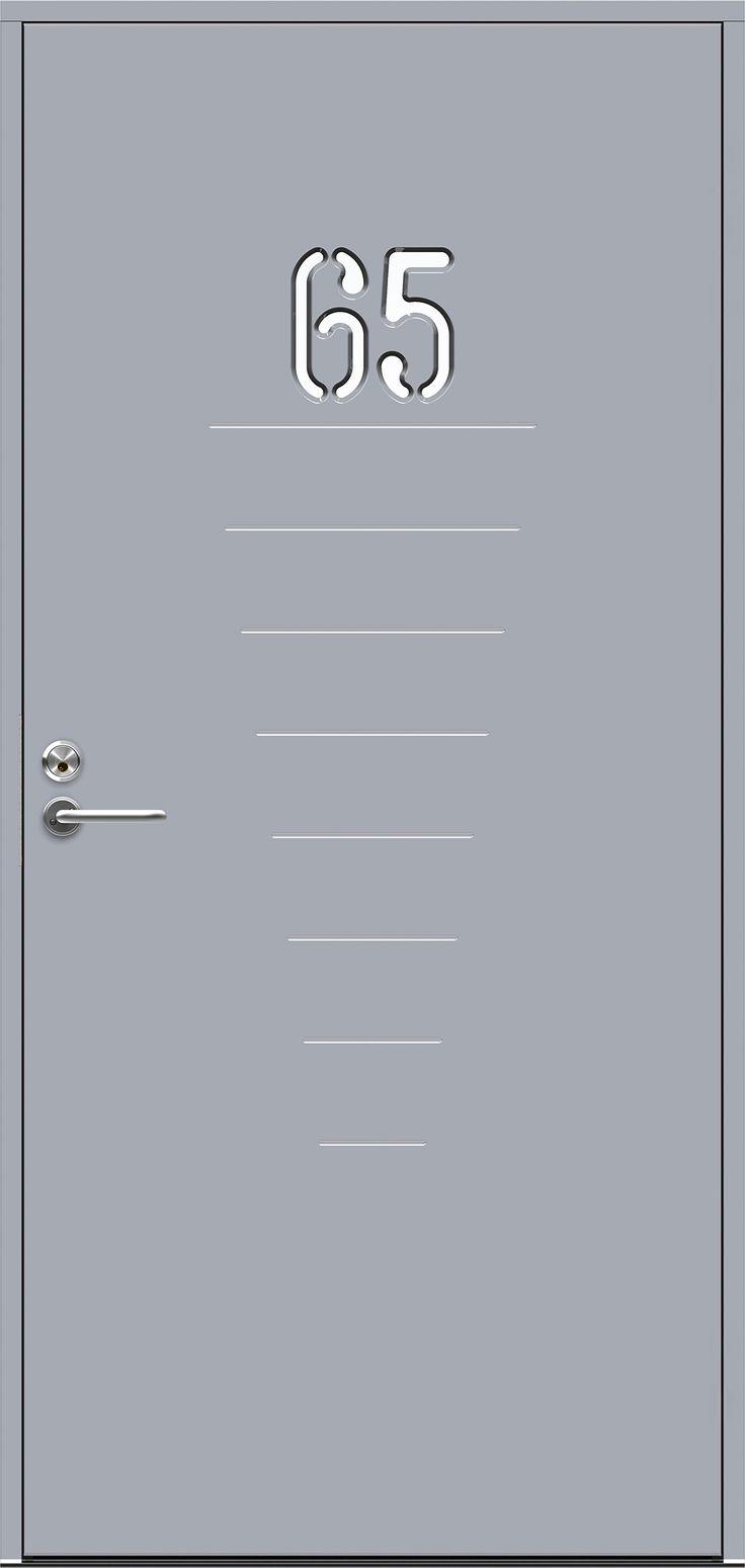 JELD-WENin Character-malliston Digits-ulko-oveen voi valita 1-3 merkkiä (A-J ja 0-9).  Ovi voi olla valkoinen tai siihen voi valita värin perusvärivalikoimasta tai NCS-värikartasta. Ovi voi olla myös 2-värimaalattu.  Lisävarusteita saatavilla!