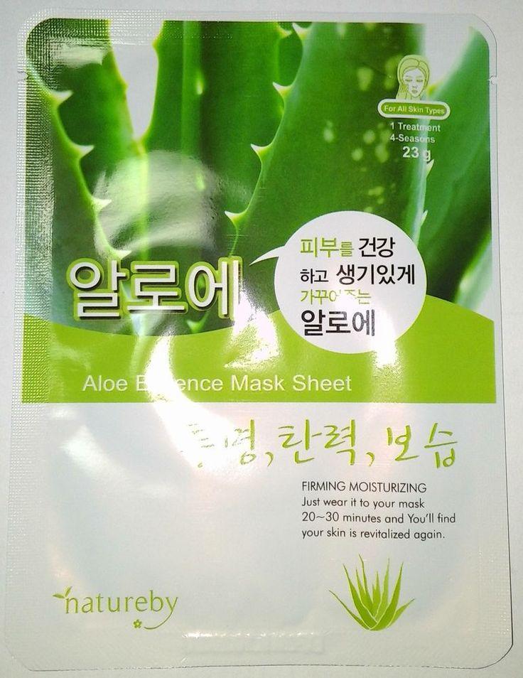 Natureby Aloe Essence Mask Sheet Pack K-Beauty 1pcs #Natureby