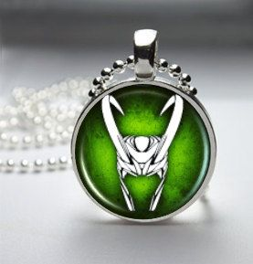 Loki God of Mischief Helmet Pendant Necklace 2 by TacticalDetroit, $11.99. I prefer green and gold. not green and silver
