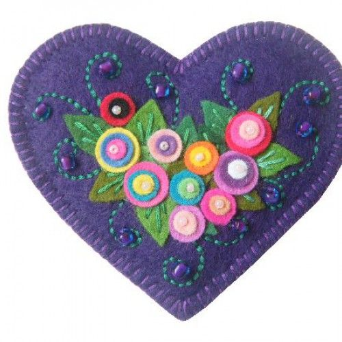 Violet CORAÇÃO popular broche