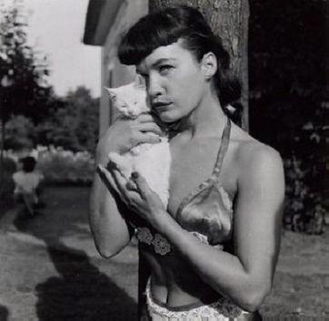 bettie page & kitten