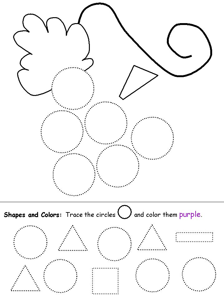 shapes recognition practice worksheet