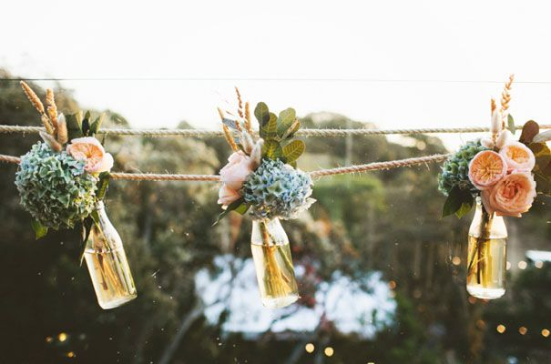 we're going to hang jars on twine under the tree for our ceremony