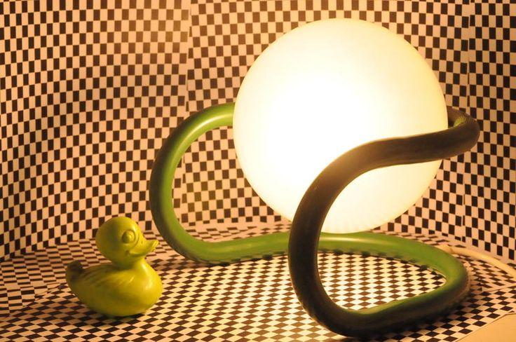 Designer Tischlampe Pop Art  70er von Cascinos Sternstunde auf DaWanda.com