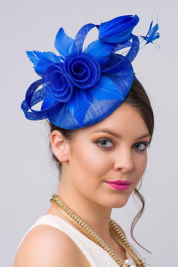 Royal Blue Fascinator Emelia Rose Royal Blue