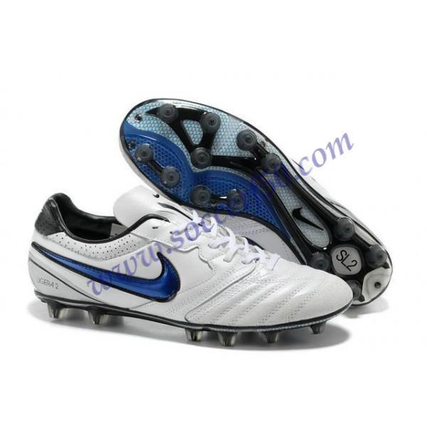 Cheap Nike Tiempo Super Ligera K HG White Blue Black Football Boots
