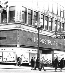 1947: Nordstrom Flagship store, downtown Seattle.