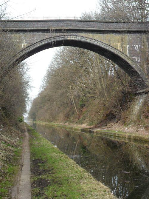 vwcampervan-aldridge:  Bridge over deep cutting, Birmingham Navigation Company Canal, Perry Barr, England.