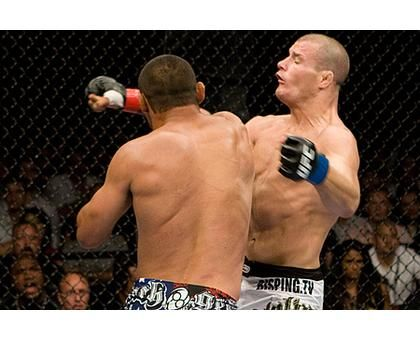 Probably my favorite fight ever. Dan Henderson vs Michael Bisping. Henderson hit Bisping 1 more time because he's such a dick!