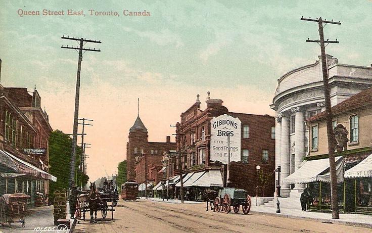 Queen Street East, Toronto, Ontario ca. 1910