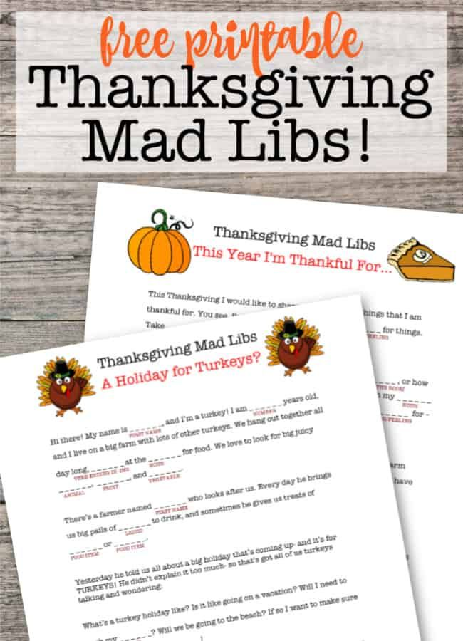 Free Printable Thanksgiving Mad Libs In 2020 Thanksgiving Mad Lib Thanksgiving Printables Free Thanksgiving Printables