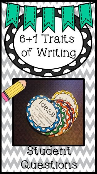 The 6 traits of writing are the foundation on which every student will learn in their education. These circles will provide students with a portable aid to use during the writing process. Each circle asks 3-4 questions that students can use to make sure they are following the 6 +1 traits.   The circles cover ideas, organization, sentence fluency, word choice, conventions, voice and presentation.
