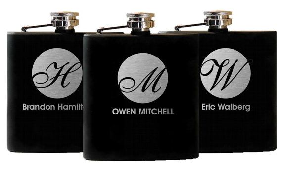 Custom Engraved Flask Groomsman Gift Best by UrbanFarmhouseTampa