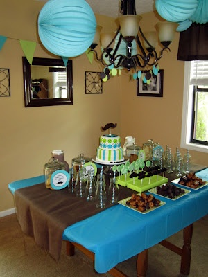 little man baby shower-love this color theme just throw navy in with it.
