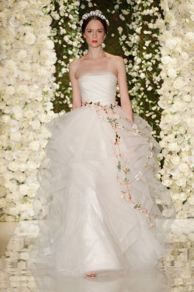 Reem Acra bridal spring 2015. Photo: JP Yim/Getty Images