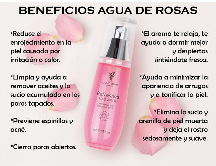 Beneficios agua de rosas Younique