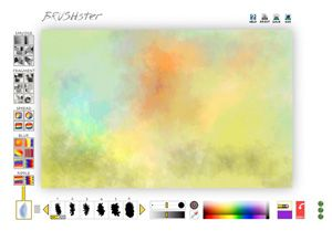 """Brushster :This free painting program from the National Gallery of Art lets kids paint with a variety of """"brushes"""" online, or they can click a button to watch the program create art on its own. Other cool art programs too!"""