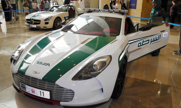 World's Most Exotic Police Cars:  The biggest budget-breaker on the list is this Aston Martin One-77, although its $1.4 million to $1.8 million price tag didn't make the Dubai police flinch. One of just 77 produced, this cruiser brings a 7.3-liter V12 engine and 750 pumped-up ponies to the pursuit. Bustling, wealthy Dubai probably has more supercars per capita than anywhere on the planet, so the police really need muscular pursuit vehicles like this — right?